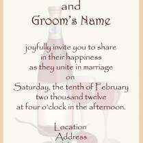 Wedding Invitation Sayings Wording Bride And Groom Host Modern