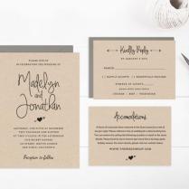 Wedding Invitation Template Printable, Editable Text And Artwork