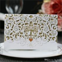 Wedding Invitations High Quality Pearl Paper Laser Cut Hollowing
