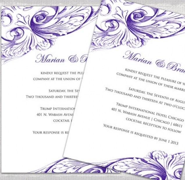 Wedding Invite Template Word Wedding Invite Templates Free Word