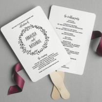 Wedding Program Fan, Wedding Program Printable, Rustic Wedding