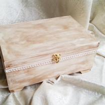Wooden Wedding Cards Box Rustic Looking Old Vintage Cotton Lace