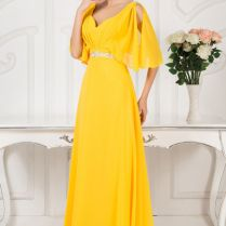 Yellow Mother Of The Bride Dress