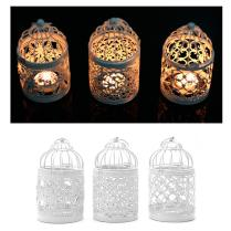 3 Types Metal White Holder Tealight Candlestick Hollow Hanging
