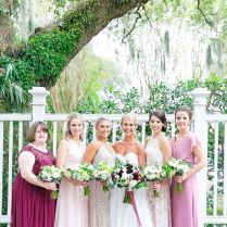 Mix And Match Pink And Red Bridesmaid Dresses