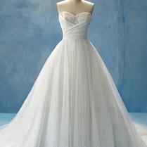 Alfred Angelo White Tulle Glitter Net Taffeta Cinderella Bridal