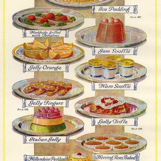 1920s Uk Food Magazine Plate Drawing