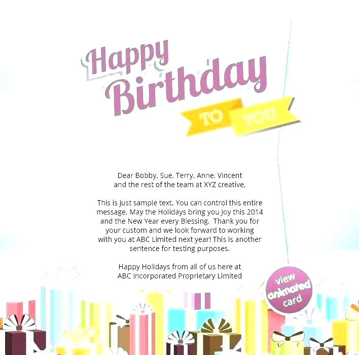 Employee Birthday Announcement Birth Email Template Free Party