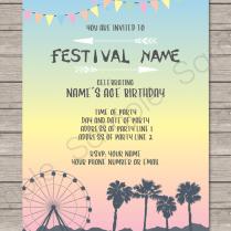 Coachella Themed Party Invitations Template