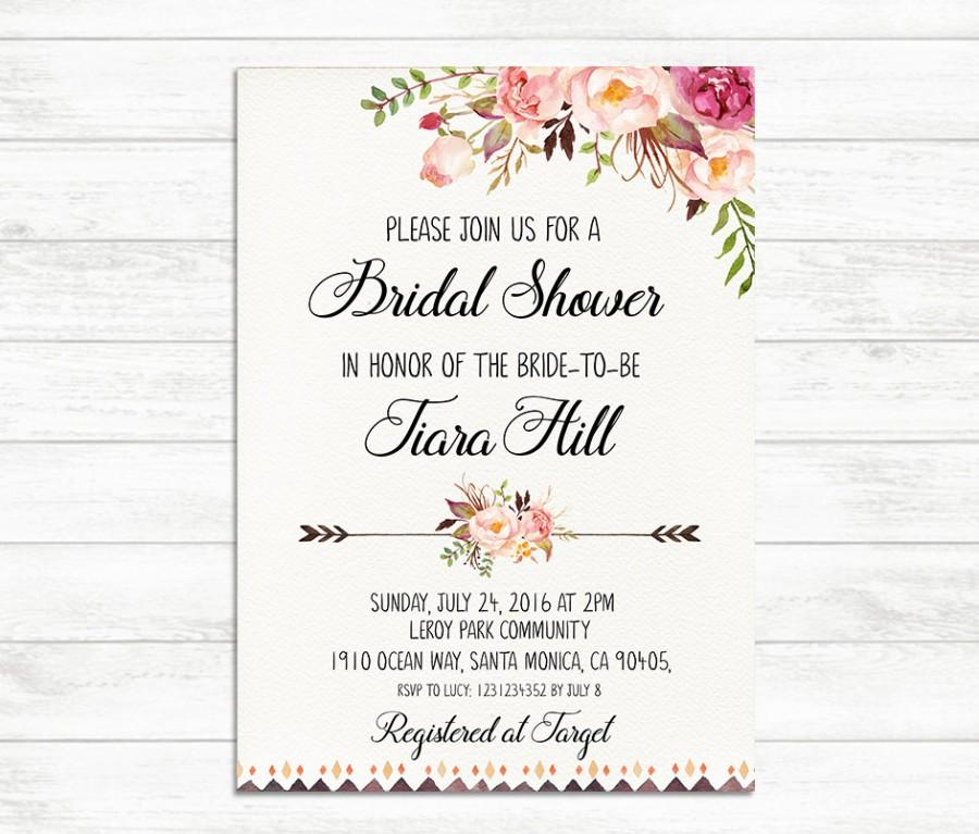 image about Free Printable Bridal Shower Invitations identified as Free of charge Printable Marriage Shower Invitation Templates