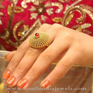 Gold Bridal Ring Design South India Jewels