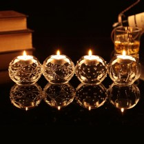 Handblown Vintage Tealight Candle Holder Votive Holders Wedding