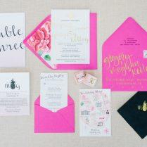 Charleston Wedding Invitations, Custom, Watercolor, Unique Dodeline