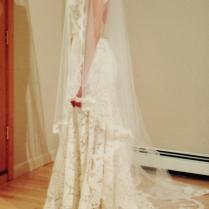 Monique Lhuillier Ivory Scarlet Wedding Dress Size 2 (xs)