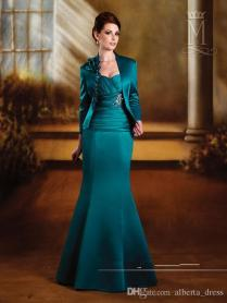 Mermaid Mother Wedding Dresses Sweetheart Long Sleeve Jacket