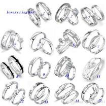 2019 Wedding Rings Sets Jewelry Women Men 30 White Gold Silver