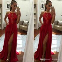 2018 Sexy Red Prom Dresses Mermaid Sleeveless A Line Floor Length