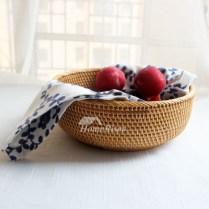 Rustic Fruit Bowl Rattan Creative Kitchen Farmhouse Best Good Quality
