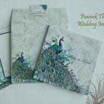 Designer Peacock Theme Wedding Invitation Cards Άλλο σε Ηνωμένες