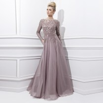 Sexy Long Sleeves Mother Of The Bride Dress 2017 Bead Dresses