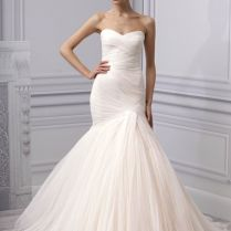 Spring 2013 Wedding Dress Monique Lhuillier Bridal Gown Ruched