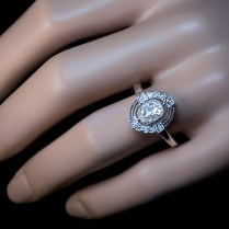 Art Deco Diamond And Platinum Vintage Engagement Ring