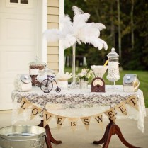 Kara's Party Ideas Vintage Backyard Wedding Table Party Planning