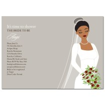 Wedding Divas Bridal Shower Invitations Groovy Diva Taupe African