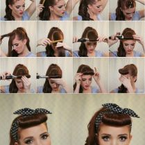 Easy Simple Pin Up Cascading Pony With Bangs