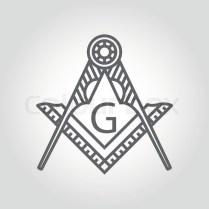 Vector Grey Masonic Freemasonry Emblem