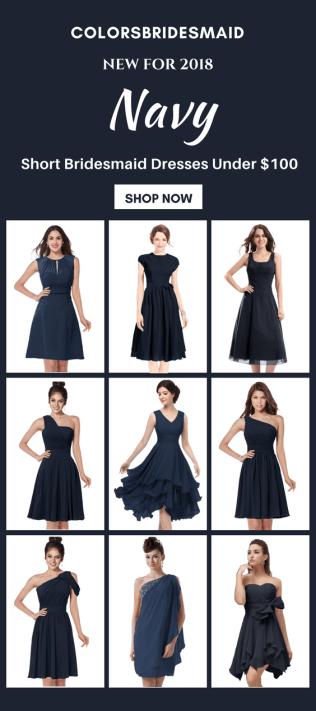 9 Best Short Navy Blue Bridesmaid Dresses Under 100 Shop Now