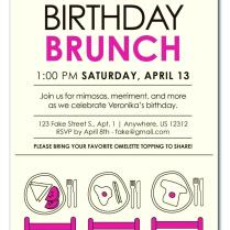 Birthday Lunch Invitation Wording Com Party 30th – Atelier