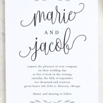 8 Calligraphy Wedding Invitations