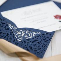 Card Invitation Wedding With Rsvp Cards Envelopes Tri Folding