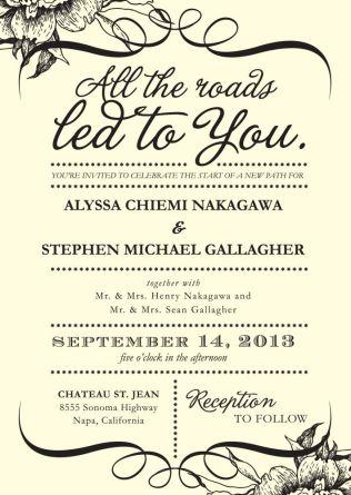 Couple Hosting Wedding Invitation Wording Wedding Invitation
