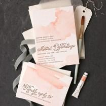 Diy Watercolor Wedding Invitations Diy Watercolored Letterpress