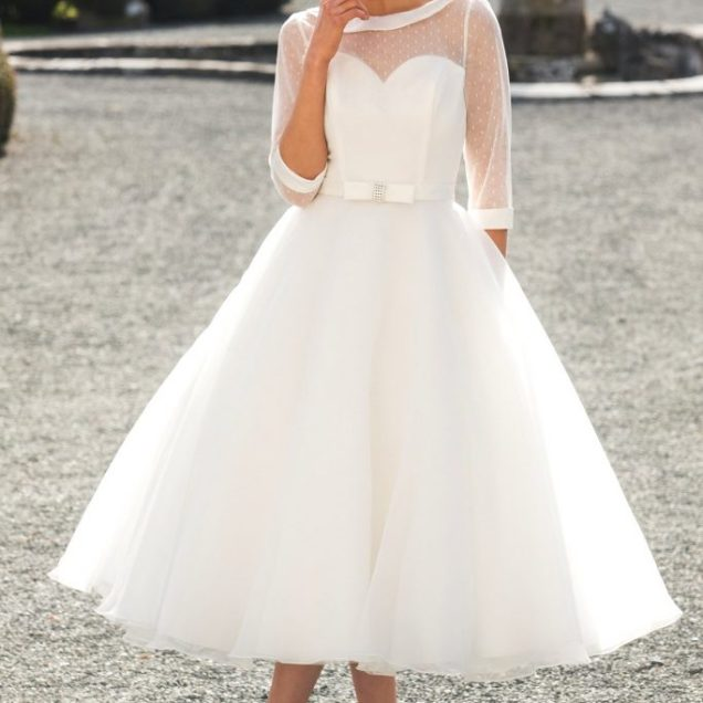 Tea Length Short Wedding Dresses