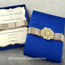 Royal Blue And Gold Wedding Invitation Templates Free