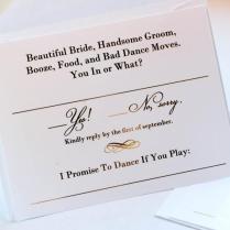 Gold Foil Wedding Invitation Rsvp Cards Metallic Gold Or Silver