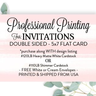 Printed Invitations 5x7 With Envelopes Printed 5x7 Invites
