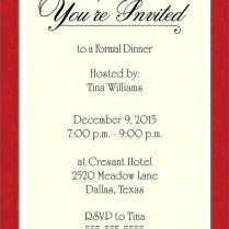 Invite For Office Dinner Party Dinner Party Invite Template Ideas