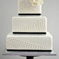 49 Amazing Black And White Wedding Cakes