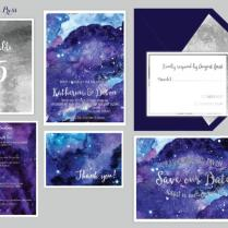 Star Night Sky Wedding Invitations