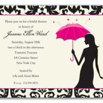 Shabina's Blog Bridal Invitations Throw A Shower She 39ll Never