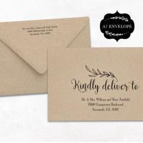 Wedding Envelope Template, Printable Wedding Envelope Template, A7