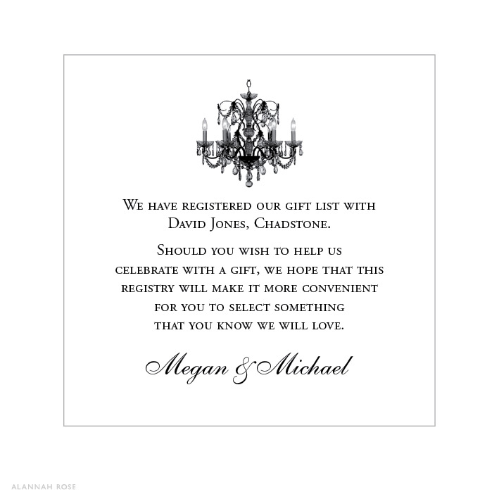 Wedding Invitation Registry Wording: Gift Registry Invitation Wording