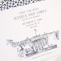 White House, Washington Dc Save The Date Cards