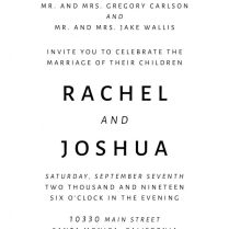 Simple & Plain, Wedding Invitation Cards With Rsvp Postcards