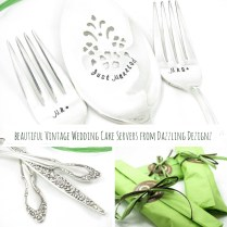 Beautifully Hand Stamped And Personalised Vintage Silver Wedding