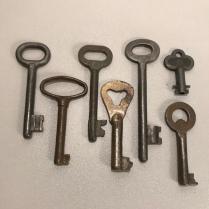 Vintage Skeleton Keys Lot Of 7 Antique Skeleton Keys From